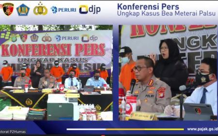 Polisi Ungkap Pemalsuan Meterai Bernominal Rp10.000