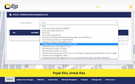 Pengajuan Insentif Pajak PMK 82/2021, Aplikasi DJP Online Diperbarui