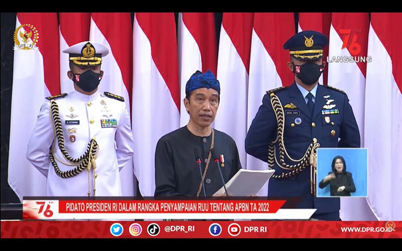 Serahkan RAPBN 2022 ke DPR, Jokowi Jelaskan Arah Kebijakan Fiskal