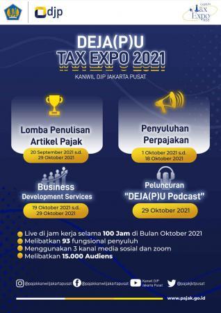 Kanwil DJP Jakpus Gelar DEJA(P)U Tax Expo 2021, Ada Lomba Menulis