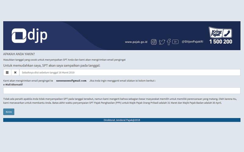 DJP Sebar Imbauan Pelaporan SPT Lewat Email, Anda Dapat Juga?