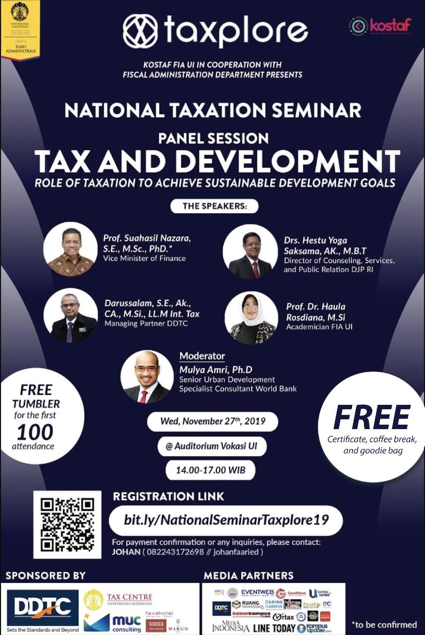 Universitas Indonesia Gelar Seminar Pajak dan SDGs, Tertarik?
