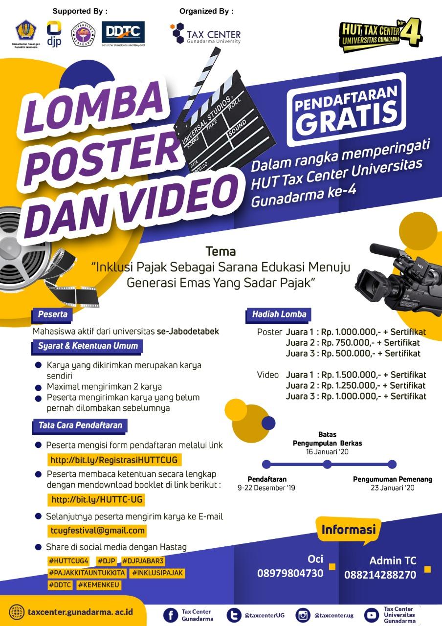 Universitas Gunadarma Gelar Lomba Poster & Video Inklusi Pajak, Mau?