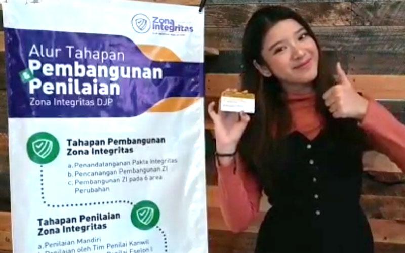Diiringi Musik Dangdut, Tiara Idol Ajak Kawan Pajak Lapor SPT Tahunan