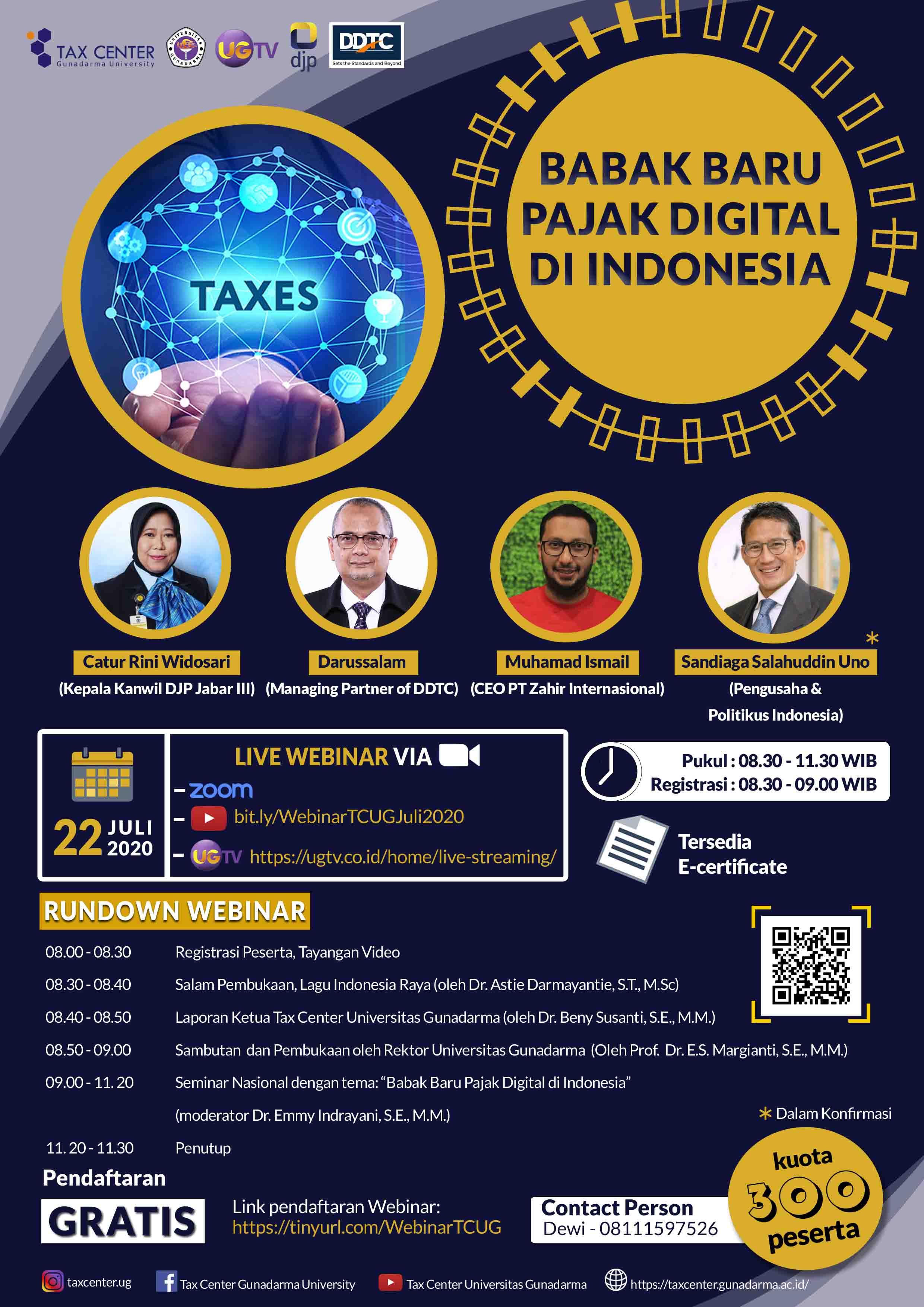 Ada Webinar Gratis Soal Babak Baru Pajak Digital di Indonesia, Mau?