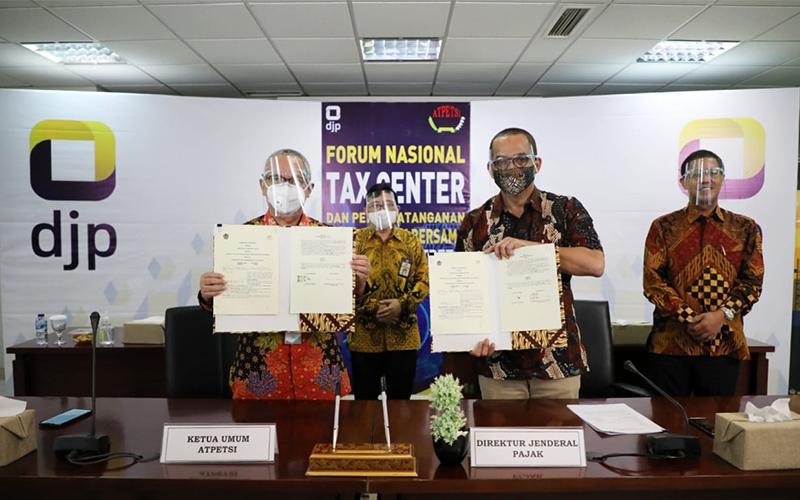 Tingkatkan Peran Tax Center, DJP dan Atpetsi Teken Kesepakatan Bersama