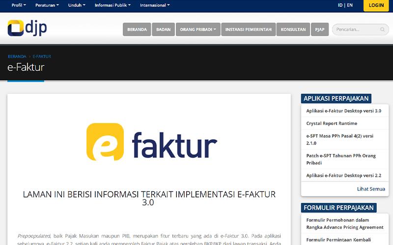 Butuh Informasi Soal e-Faktur 3.0? Cek Laman Khusus dari DJP Ini