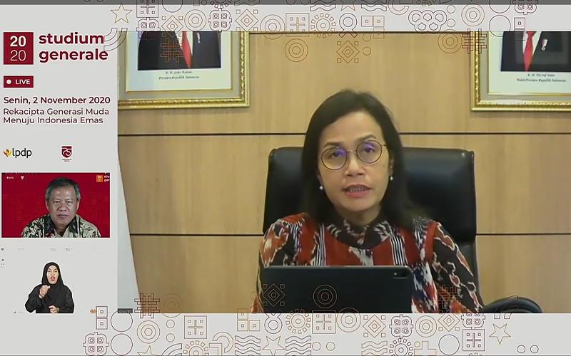 Singgung UU Cipta Kerja, Ini Pesan Sri Mulyani untuk Awardee LPDP