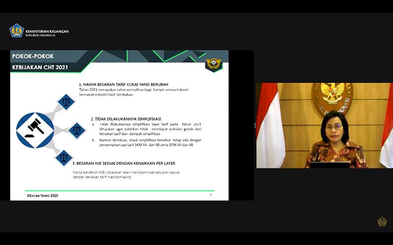 Sri Mulyani: Tarif Cukai Rokok 2021 Naik 12,5%! Ini Perinciannya