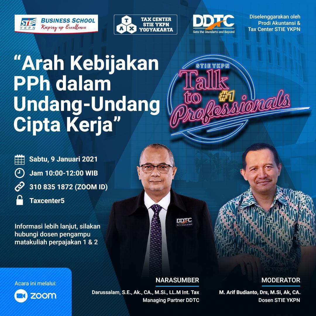 Bahas Arah Kebijakan PPh, STIE YKPN Bakal Gelar Talk to Professionals