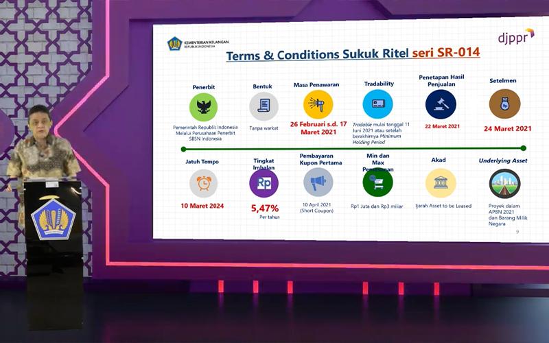 Pemerintah Jual Sukuk Ritel SR014 Berkupon 5,47%, Begini Cara Belinya