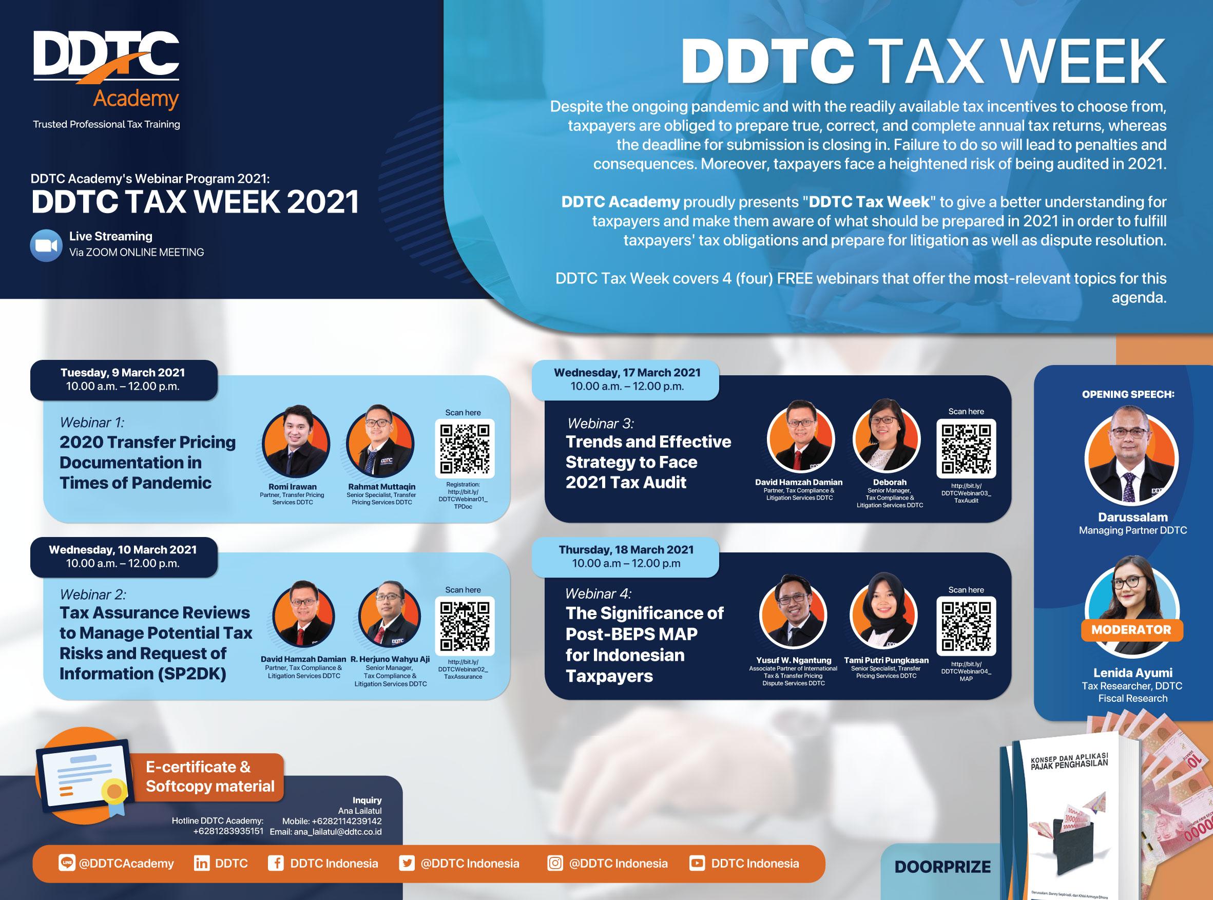 DDTC Tax Week Digelar! Ada 4 Webinar Pajak Gratis, Mau?