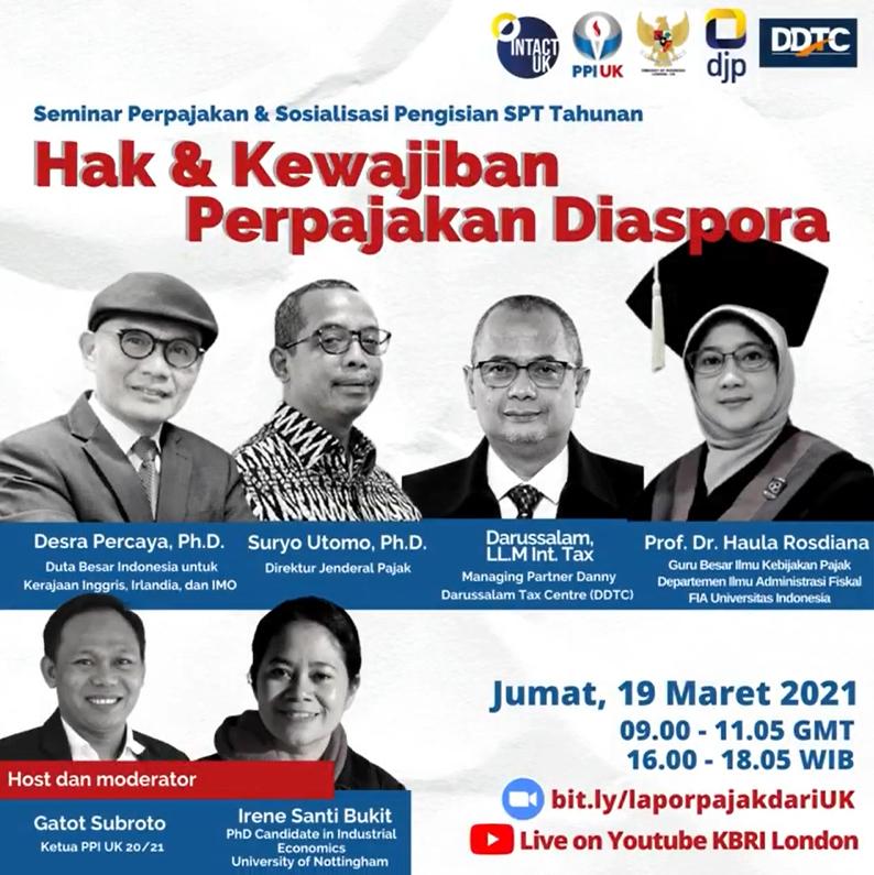 Ada Webinar Soal Hak dan Kewajiban Perpajakan Diaspora, Tertarik?