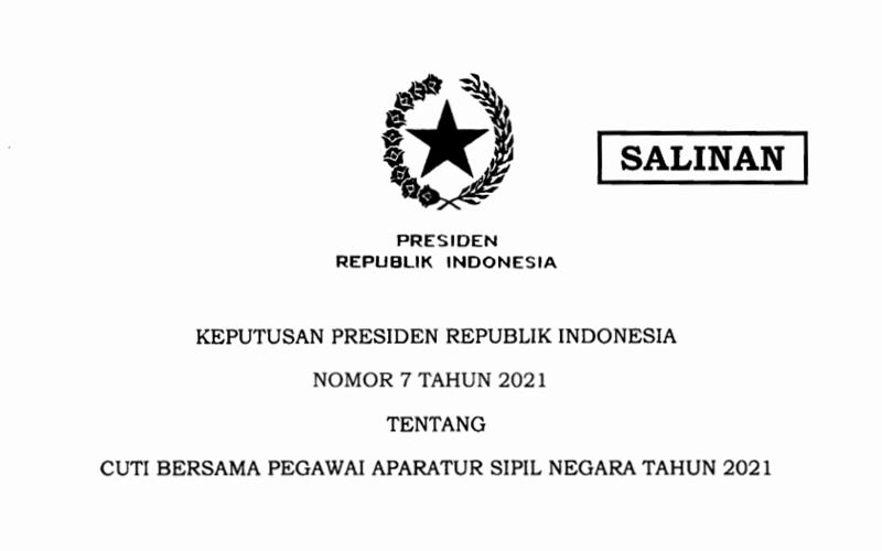 Diteken Jokowi, Cuti Bersama ASN Hanya 2 Hari Tahun Ini