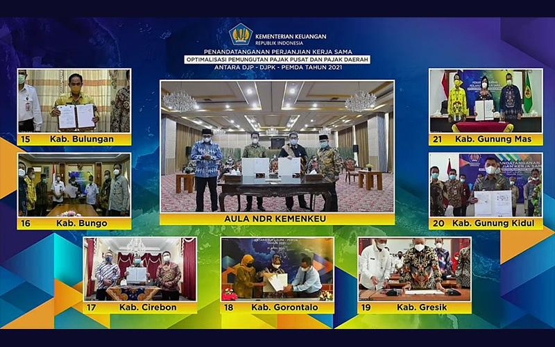 Bertambah, 84 Pemerintah Daerah Teken Kerja Sama dengan DJP dan DJPK