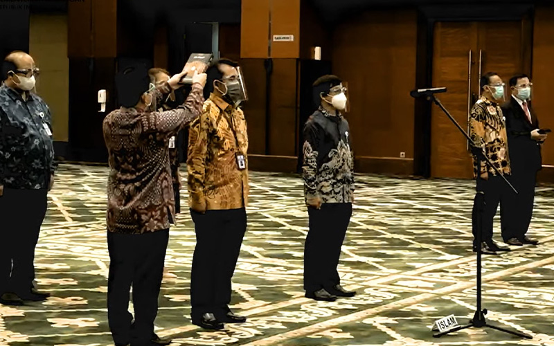 Sri Mulyani Lantik Petinggi PKN STAN dan Pejabat Ditjen Perbendaharaan