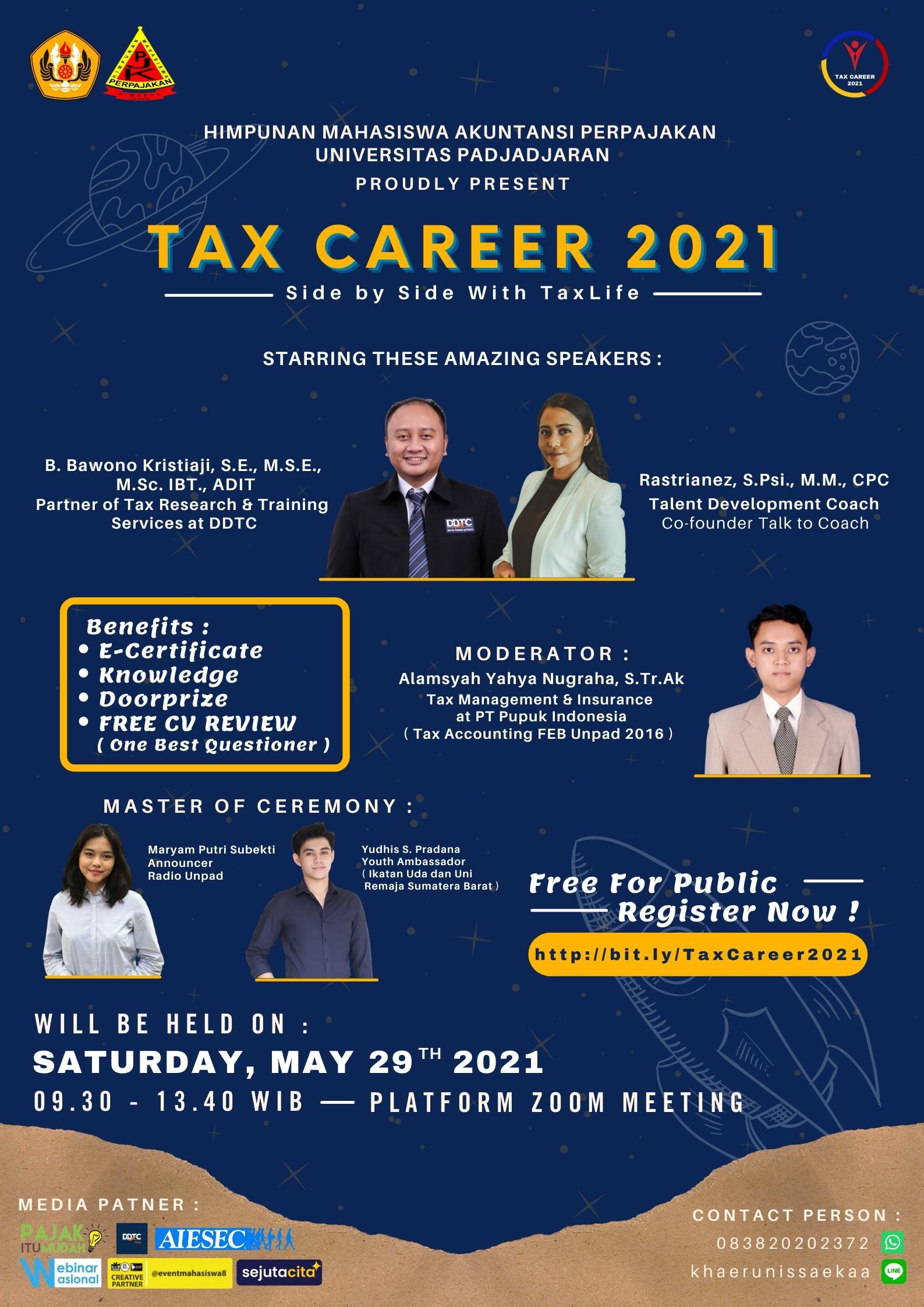 Gratis dan Dapat Sertifikat! Unpad Adakan Seminar Tax Career 2021