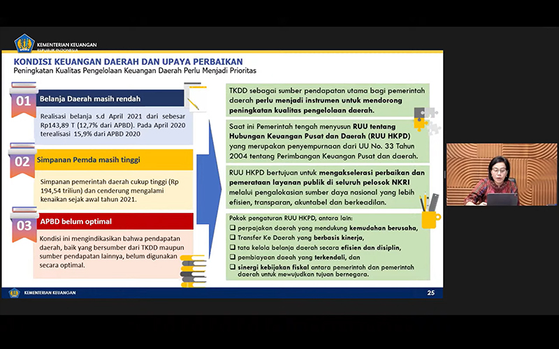 Kinerja PAD dan Belanja Daerah Belum Optimal, Ini Kata Sri Mulyani
