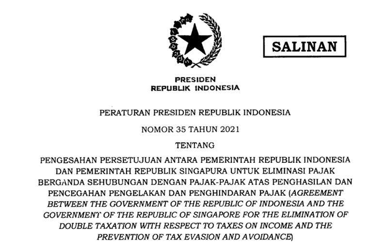 Resmi Diperbarui, Presiden Jokowi Sahkan P3B Indonesia dan Singapura