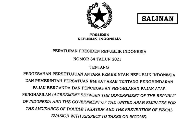 Jokowi Resmi Ratifikasi P3B Indonesia dan UEA