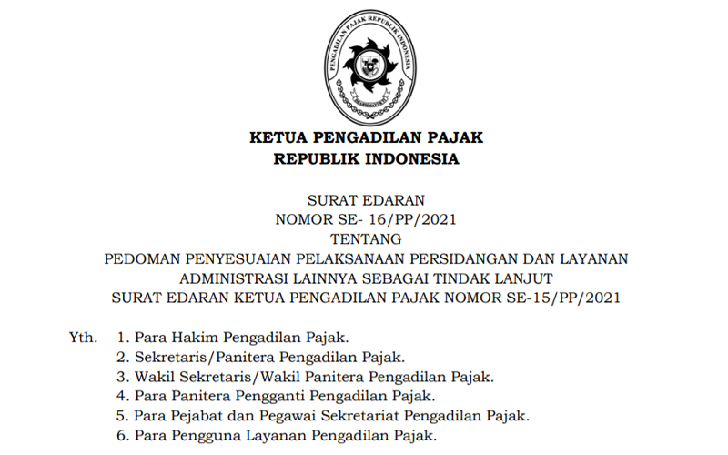 Pengadilan Pajak Terbitkan Pedoman Baru Penyesuaian Pelaksanaan Sidang
