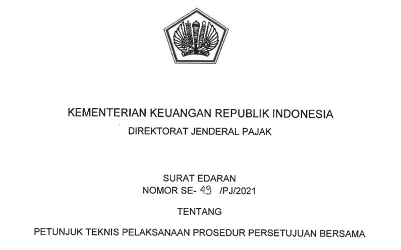 Ditjen Pajak Terbitkan Surat Edaran Soal Prosedur Persetujuan Bersama