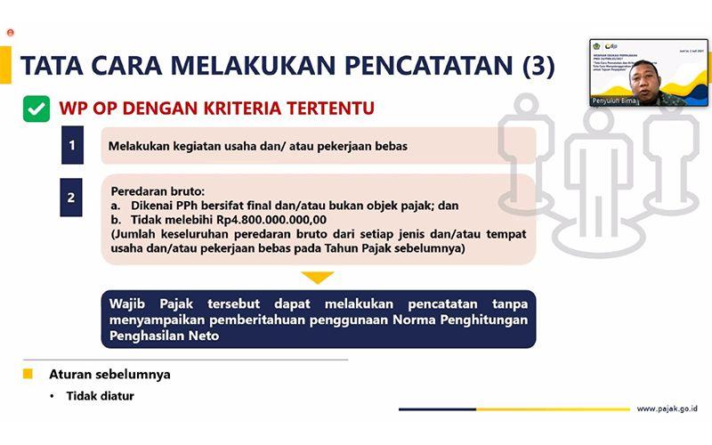 Pembukuan & Pencatatan dalam PMK 54/2021, Ini Kata Penyuluh Pajak DJP