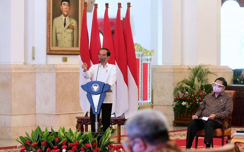 Pesan Jokowi ke Pengusaha: Pandemi Belum Berakhir