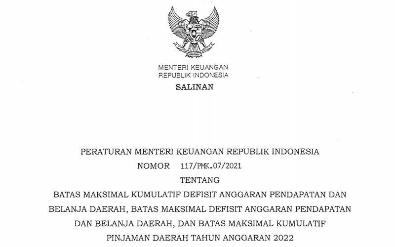 PMK Baru! Sri Mulyani Persempit Ruang Defisit APBD 2022