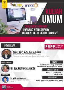 Gelar Kuliah Umum, FIA UI dan POLTAX Bahas Pajak Ekonomi Digital
