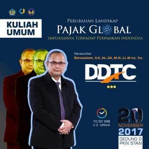 DDTC Bahas Isu Pajak Global di Kampus PKN STAN