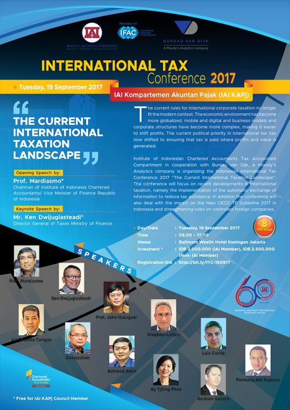 IAI Gelar Konferensi Pajak Internasional 2017