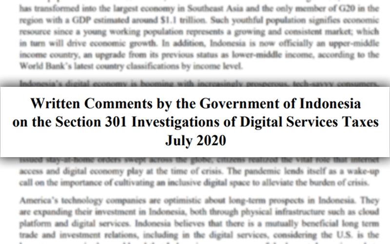 Investigasi Pajak Digital, Indonesia Kirim Komentar Tertulis ke AS