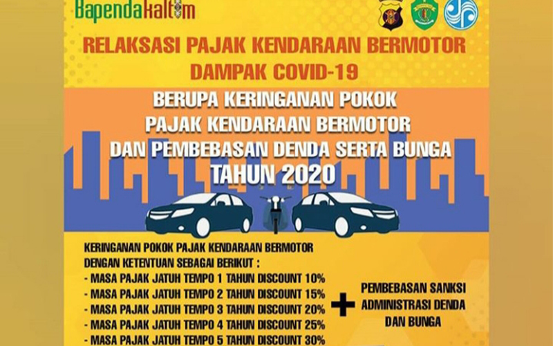 Wuih, Pemutihan Pajak Kendaraan Diperpanjang Hingga September 2020