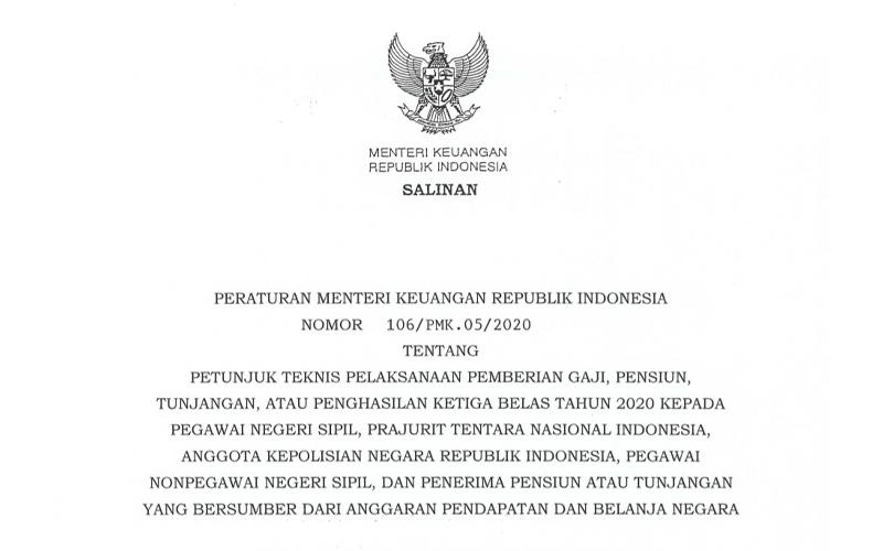 Sri Mulyani Rilis Juknis Pemberian Gaji ke-13 ASN & Anggota TNI/Polri