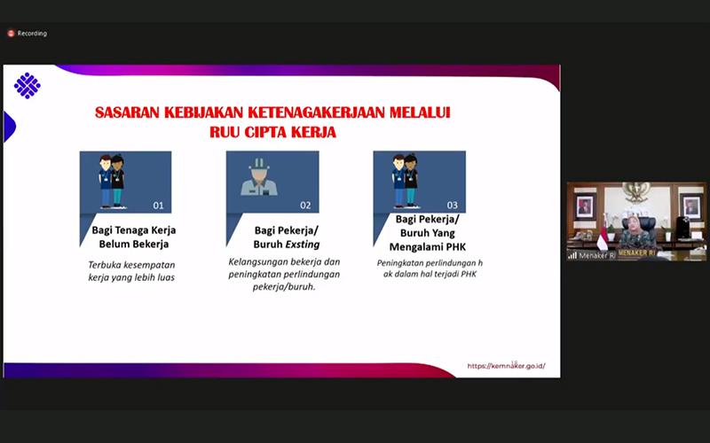 Draf Baru Klaster Ketenagakerjaan Omnibus Law Cipta Kerja Sudah di DPR