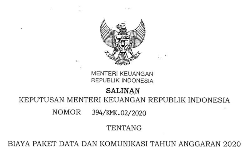 Agar WFH Lancar, Sri Mulyani Terbitkan Keputusan Soal Biaya Paket Data