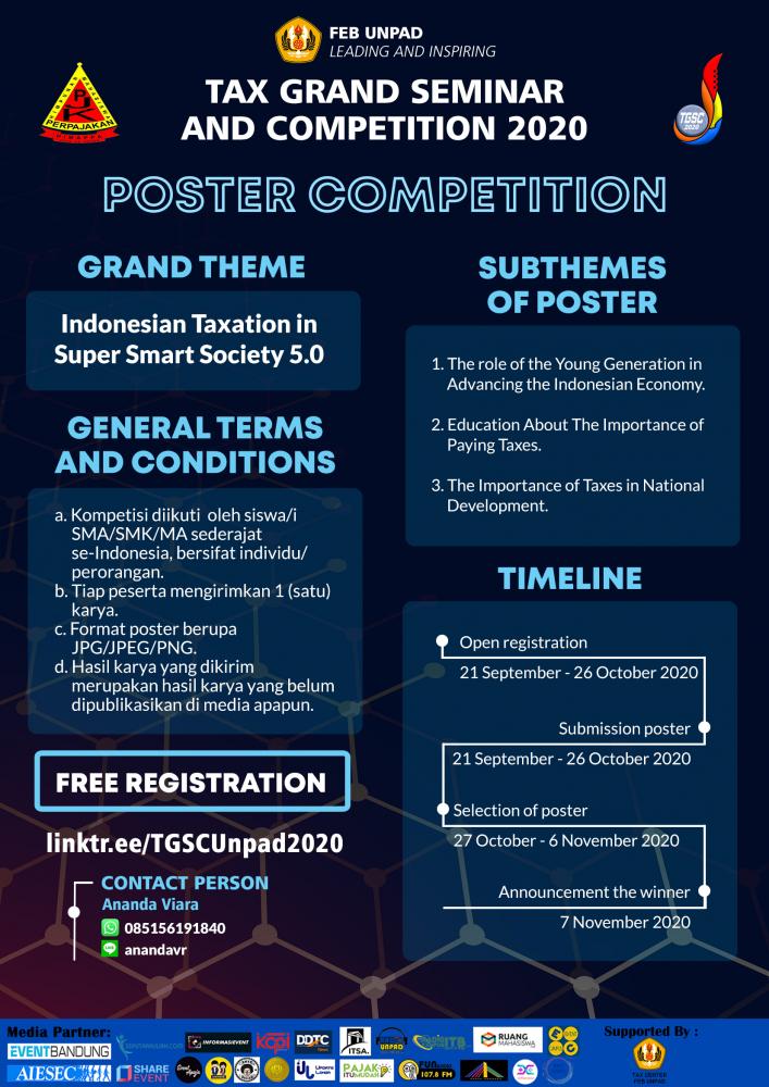Hima Akuntasi Perpajakan Unpad Gelar Kompetisi Poster, Berminat?
