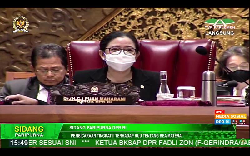 DPR Akhirnya Sahkan RUU Bea Meterai Jadi Undang-Undang