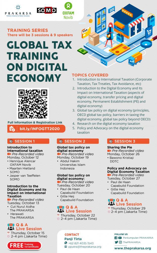 Global Training Series Soal Pemajakan Ekonomi Digital, Tertarik?