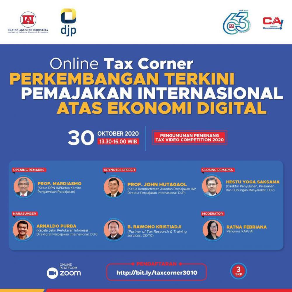Ada Acara Online Tax Corner Soal Pemajakan Ekonomi Digital, Tertarik?