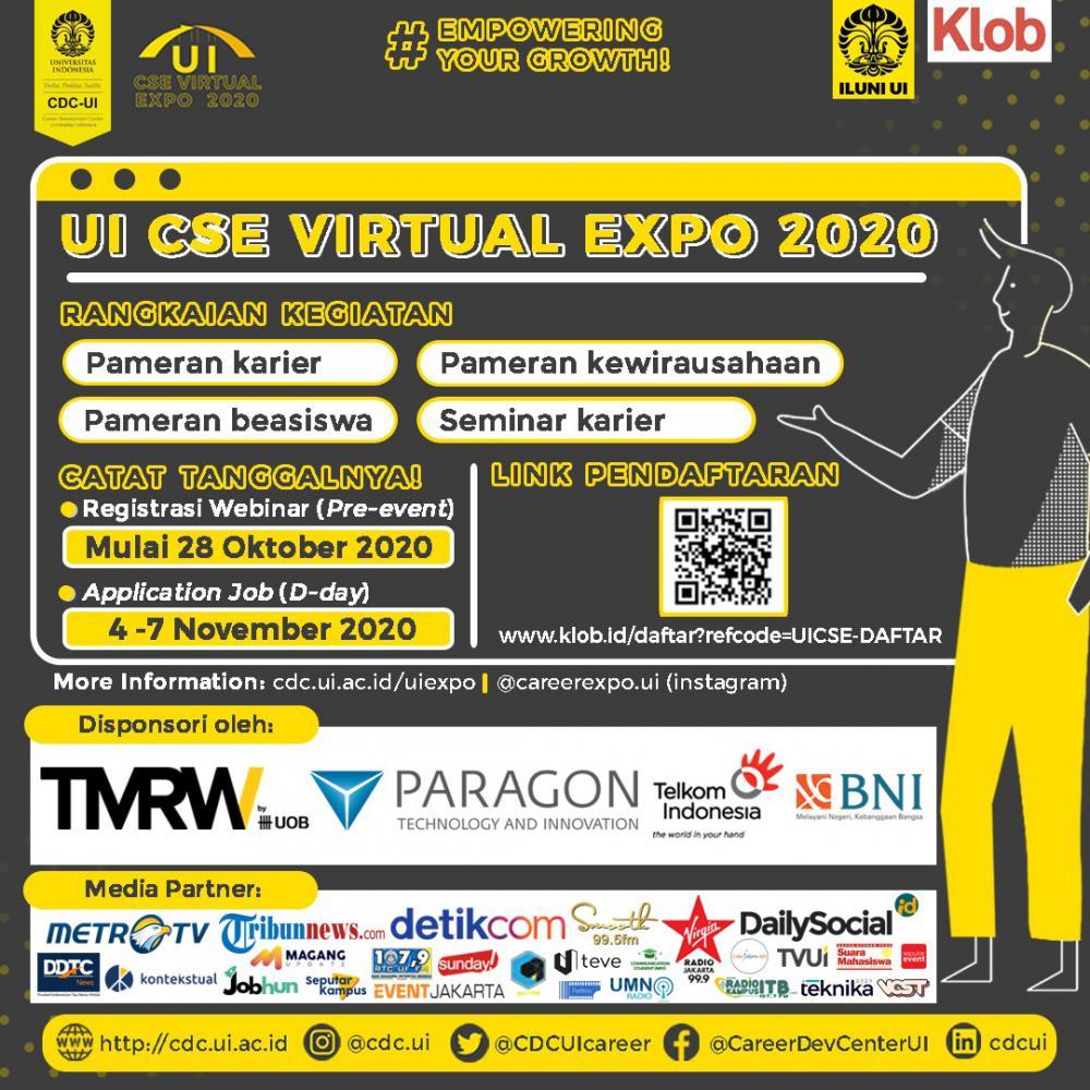 Cari Peluang Kerja? Bisa Kunjungi UI CSE Expo