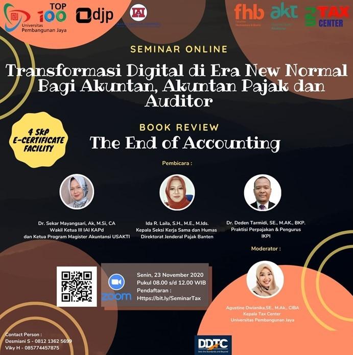 Seminar Online Transformasi Digital Bagi Akuntan & Auditor, Tertarik?