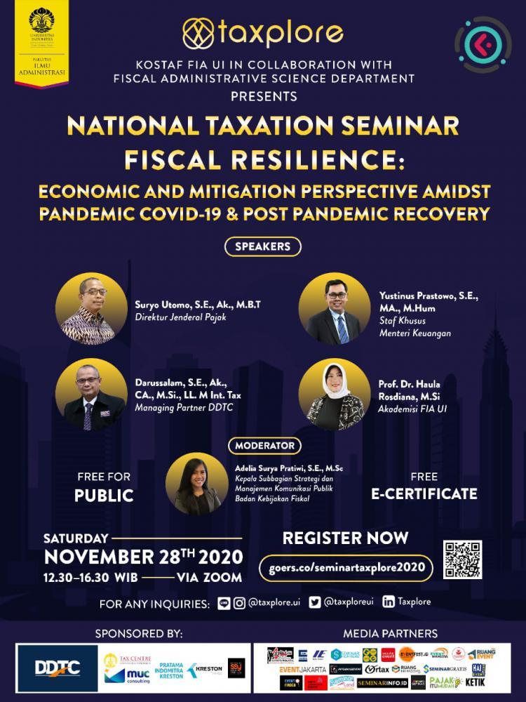 Ada Seminar Nasional Soal Ketahanan Fiskal, Mau Ikut?