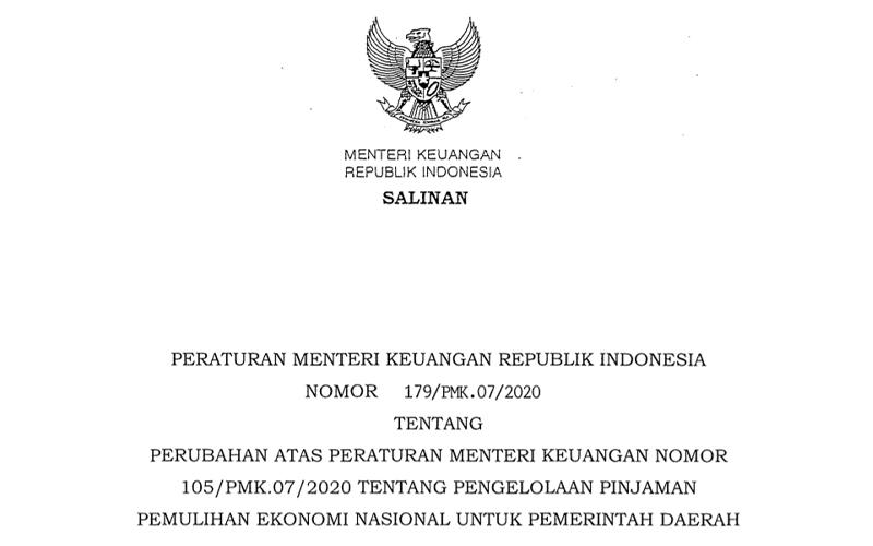 Pemerintah Revisi Aturan Pinjaman PEN untuk Pemerintah Daerah