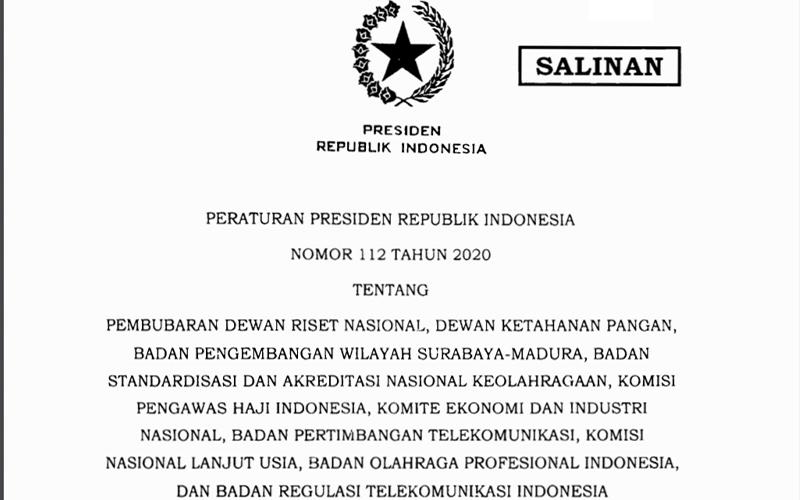 Tingkatkan Efisiensi, Jokowi Resmi Bubarkan 10 Lembaga Ini