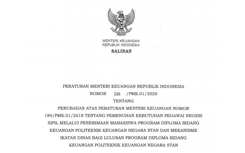 Sri Mulyani Revisi Aturan Alokasi dan Ikatan Dinas Lulusan PKN STAN