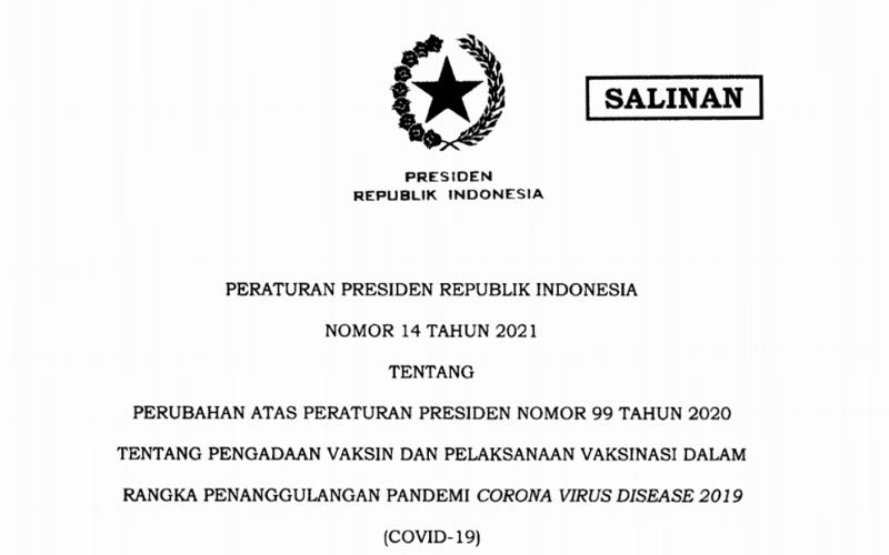 Perpes Diubah, Jokowi Beri 3 Sanksi untuk Penolak Vaksinasi