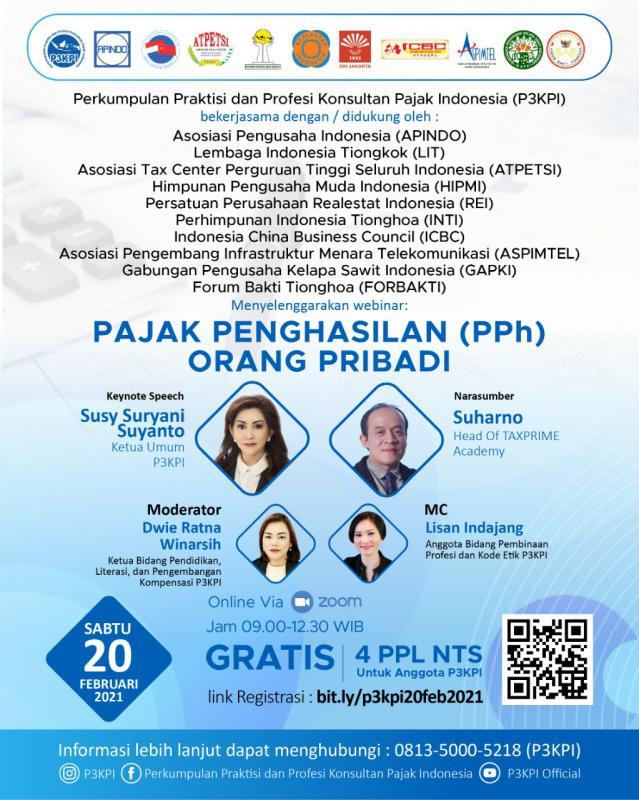Gratis! P3KPI Gelar Webinar Pajak Penghasilan Orang Pribadi