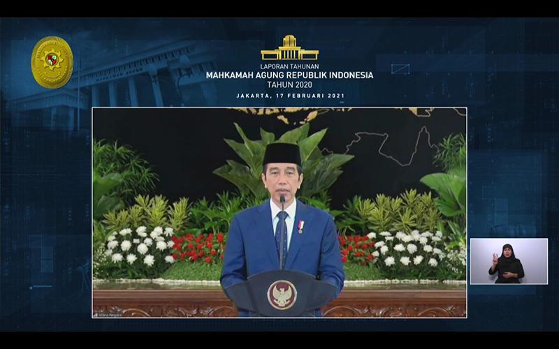 Jokowi Singgung Soal Penerapan Teknologi Informasi di Mahkamah Agung